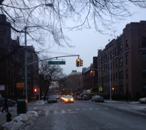 View of 73rd Street in Jackson Heights, Queens County, considered one of the busiest and most metropolitan areas of the neighborhood.